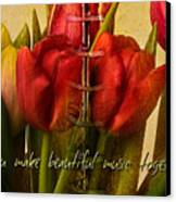 You Make Beautiful Music Together Canvas Print by Dania Reichmuth