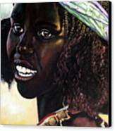 Young Black African Girl Canvas Print