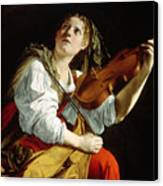 Young Woman With A Violin Canvas Print