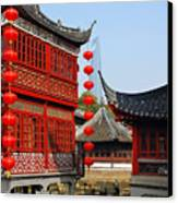 Yu Gardens - A Classic Chinese Garden In Shanghai Canvas Print by Christine Till