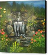 Zen Waterfall Canvas Print