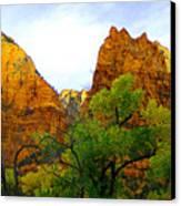 Zion In Autumn Canvas Print