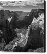 Zion Valley From Observation Point Canvas Print by Steven Wilson
