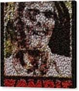 Zombie Bottle Cap Mosaic Canvas Print by Paul Van Scott