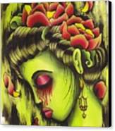 Zombie Girl No2 Canvas Print