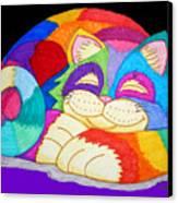 Zzzzzzzzzz Cat 3 Canvas Print by Nick Gustafson