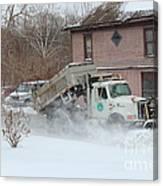 Ohio Snow Plow Canvas Print