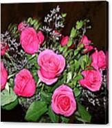 1 Dozen Roses Canvas Print
