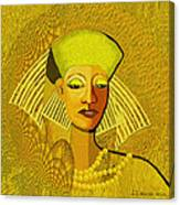 189 Metallic Woman Golden Pearls Canvas Print