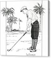 1920's Vintage Golfer Canvas Print
