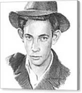 1930s Uncle Pencil Portrait Canvas Print