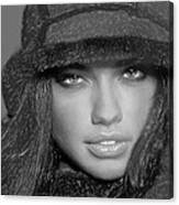 # 5 Adriana Lima Portrait Canvas Print