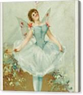 A Ballerina Balances A Liebig Canvas Print