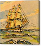 A China Clipper Ship Canvas Print