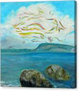 A Cloud Over The Sea Canvas Print