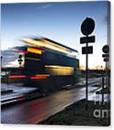 A Guided Bus Cambridgeshire Uk Canvas Print