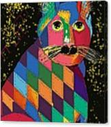 Quilted Cat Canvas Print