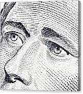 Alexander Hamilton's Ten Dollars Portrait Canvas Print