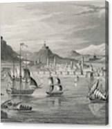 Algiers  Viewed From The Sea Canvas Print