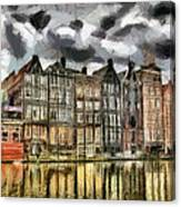 Amsterdam Water Canals Canvas Print