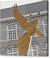 Angel In Gaz Masque Pointing To The Public Canvas Print