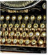 Antique Keyboard Canvas Print