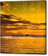 Autumn Sunset Over Ailsa Craig Canvas Print