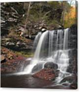 B. Reynolds Falls Under Turning Leaves Canvas Print