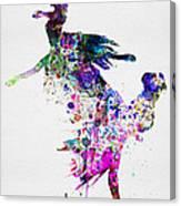 Ballet Watercolor 3 Canvas Print