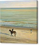 Beach Dialogue Dunwich Canvas Print