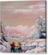 Beautiful Winter Fairytale Canvas Print
