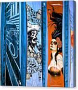 Bluesy Skateboard Art Canvas Print