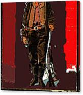Bogus Drawing Photo Of Billy The Kid Ft. Sumner New Mexico C.1879-2013 Canvas Print