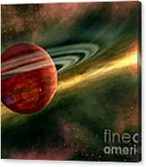 Born In Space Canvas Print