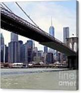 Nyc Skyline-brooklyn Bridge Canvas Print