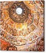 Brunelleschi Cupola Of Florence Duomo. Canvas Print