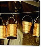 Buckets At Esfahan Market Canvas Print