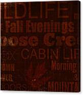 Cabin Life Canvas Print