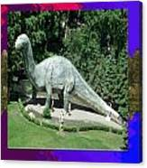 Canadian Dinosour Museaum    Canada Is Rich In Fossils Especially The Provinces Of Alberta And Bri Canvas Print