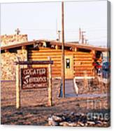 Chamber Of Commerce Log Cabin Fairbanks Alaska 1969 Canvas Print