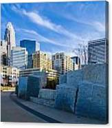 Charlotte Nc  View Of Charlotte Skyline  Canvas Print