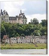 Chateau De Chaumont Stands Above The River Loire Canvas Print