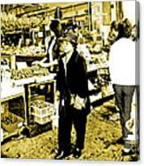 China Town Marketplace Canvas Print