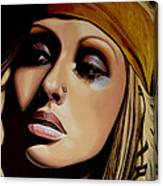 Christina Aguilera Painting Canvas Print