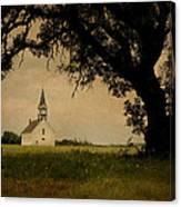 Church On The Plain Canvas Print
