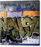 City Grafitti Making Sense  Canvas Print