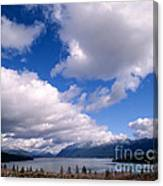 Clouds Over Lake Quinault Canvas Print