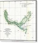 Coast Survey Chart Or Map Of The Savannah River Ans Savannah Georgia Canvas Print