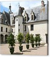 Courtyard Chateau Chaumont Canvas Print