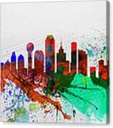 Dallas Watercolor Skyline Canvas Print